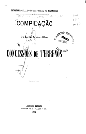 Compilação de leis, decretos, portarias e officios sobre concessões de terrenos