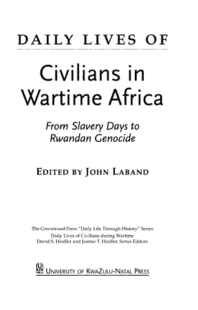 Daily Lives of Civilians in Wartime Africa PDF