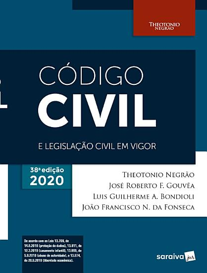 C  digo Civil e Legisla    o Civil em Vigor   38   Edi    o 2020 PDF
