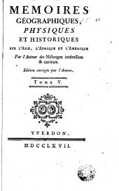 Memoires géographiques, physiques et historiques, 5: sur l'Asie, l'Afrique & l'Amérique, Volume3
