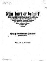 Ain kurtzer begriff Alts und News Testaments  von zwayerlay Gaistlichen Speysen  etc   PDF