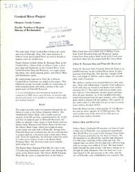 Crooked River Project Oregon Book PDF