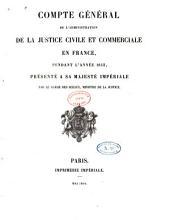 Compte général de l'administration de la justice civile et commerciale en France
