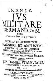 De iure militari Germanico