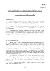 OECD Guidelines for the Testing of Chemicals / Section 4: Health Effects Test No. 474: Mammalian Erythrocyte Micronucleus Test