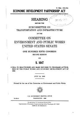 Economic Development Partnership Act PDF