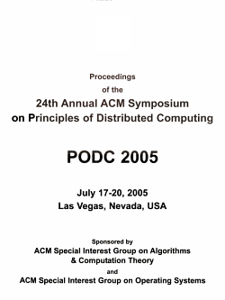 Proceedings of the 24th Annual ACM Symposium on Principles of Distributed Computing PDF