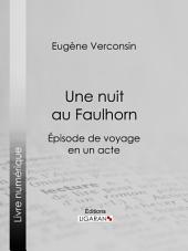 Une nuit au Faulhorn: Épisode de voyage en un acte