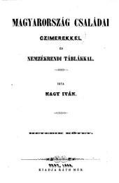 Magyarország családai czimerekkel és nemzékrendi táblákkal: 9. kötet