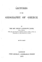 Lectures on the Geography of Greece