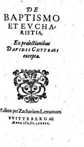 De Baptismo Et Evcharistia