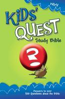 NIrV  Kids  Quest Study Bible  eBook PDF