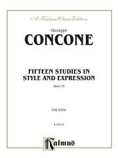 Fifteen Studies in Style and Expression, Opus 25: For Piano