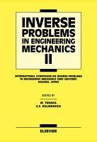 Inverse Problems in Engineering Mechanics II PDF