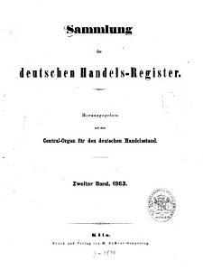 Sammlung der deutschen Handels Register PDF