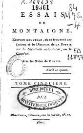 Essais de Montaigne: Volume5