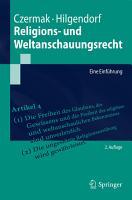 Religions  und Weltanschauungsrecht PDF