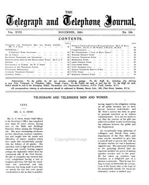 The Telegraph and Telephone Journal PDF