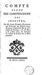 Compte rendu des Constitutions des Jésuites