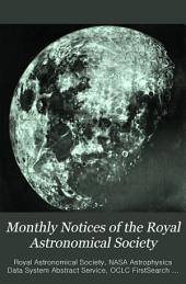 Monthly Notices of the Royal Astronomical Society: Volume 56