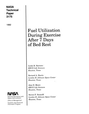 Fuel Utilization During Exercise After 7 Days of Bed Rest