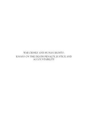 War Crimes and Human Rights PDF