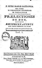 Praelectiones theologicae: Volume 1