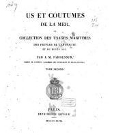 Us et coutumes de la mer, ou collection des usages maritimes des peuples de l`antiquité et du Moyen Age: Volume2