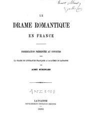 Le drame romantique en France