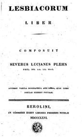 Lesbiacorum liber