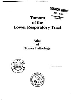Atlas of Tumor Pathology PDF