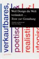 Weil Design die Welt ver  ndert    PDF