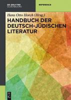 Handbuch der deutsch j  dischen Literatur PDF
