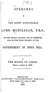 Speeches ... on the ... Government of India Bill ...