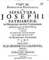 De sepultura Josephi Patriarchae