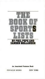 Book of Sports Lists