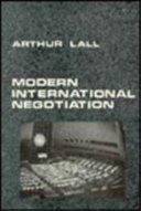 Modern International Negotiation PDF