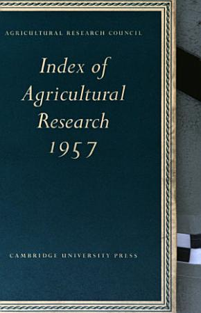 index of agricultural research  1957 PDF