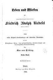 Leben und Wirken des herzoglich braunschweig'schen general-lieutenants Friedrich Adolph Riedesel: Band 1