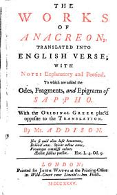 The Works of Anacreon