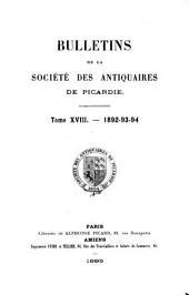 Société des antiquaires de Picardie: Bulletin, Volume18