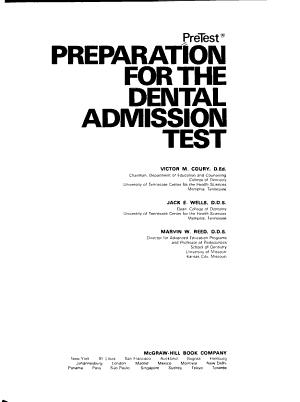PreTest Preparation for the Dental Admission Test PDF