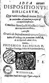 Idea dispositionum biblicarum