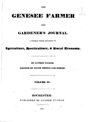 The Genesee Farmer and Gardener s Journal PDF