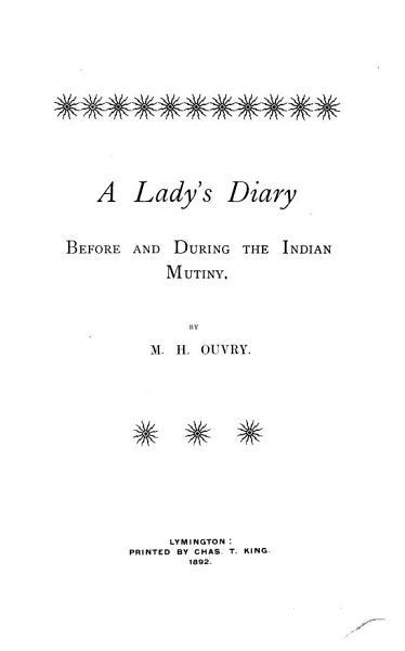 A Ladys Indian Mutiny Diary