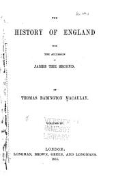 The history of England from the accession of James the Second: Volume 4