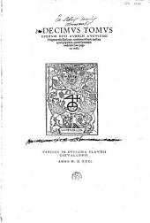 D. Avrelii Avgvstini [...] Omnivm opervm: ... Reliqua tractata apud populum