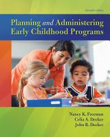 Planning and Administering Early Childhood Programs PDF