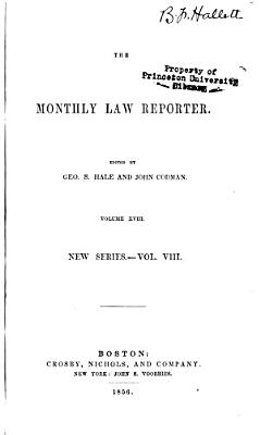 The Monthly Law Reporter PDF