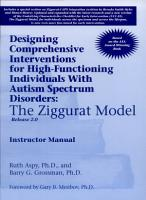 Designing Comprehensive Interventions for High functioning Individuals with Autism Spectrum Disorders PDF
